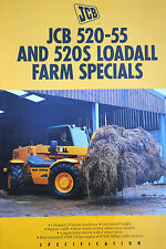 Original JCB 520-55 & 520S Loadall Farm Special Promotion Brochure English Text