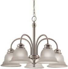 5-Light Brushed Nickel Chandelier Kitchen Dining Room Ceiling Fixture