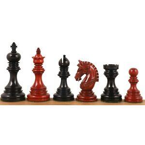 "4.1"" Stallion Luxury Staunton Chess Pieces -Triple Weighted Ebony & Bud Rosewood"