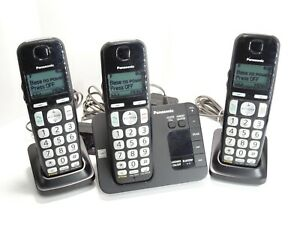 Panasonic Cordless Phone System w/ 3 Handsets + Chargers + Batteries