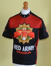 MENS GENUINE WORLD JERSEYS RED ARMY VODKA  CYCLING JERSEY/ SHIRT.SIZE LARGE.