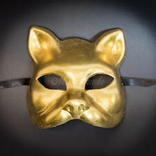 Gatto Cat Venetian Halloween Costume Masquerade Mask GOLD