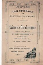 J100  PROGRAMME Ligue Fraternelle des Enfants de France CHALONS sur MARNE 1923