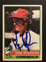 Ken Rudolph Cardinals Signed 1976 Topps Baseball Card #601 Auto Autograph