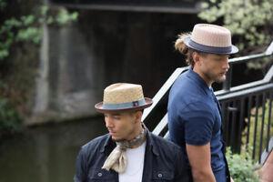 Bill Men's Women's Summer Retro Straw Porkpie Hat