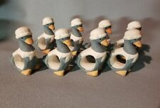 New listing Set of 8 Ceramic Geese Napkin Rings