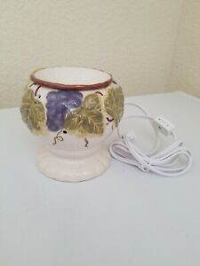 Full Size Scented Wax Warmer Scentsationals cracle glass vineyard New open box