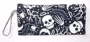 FAIR TRADE GLOW IN THE DARK SKULL PENCIL / MAKE UP CASE FROM MARRAKESH MOROCCO