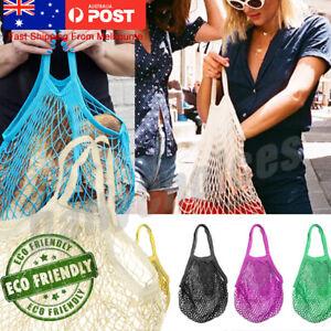 Mesh Net Turtle Bag String Shopping Bag Reusable Fruit Storage Handbag Totes DM