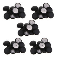 50Pcs Faux Leather Covered Buttons Upholstery Knitting DIY Handcrafts Black