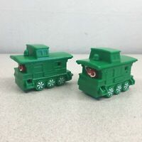 2017 McDonalds Holiday Express Caboose Green Train Car Happy Meal Toy Lot of 2