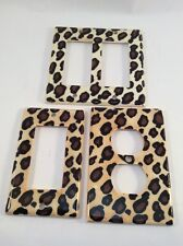 Ceramic Light Switch Plates/Outlet Cover Leopard Cheetah Animal Print Set/3