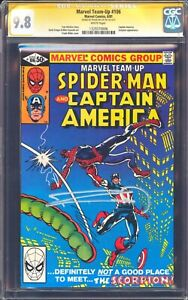 MARVEL TEAM UP 106 CGC SS 9.8 SIGNED BY FRANK MILLER SPIDERMAN CAPTAIN AMERICA