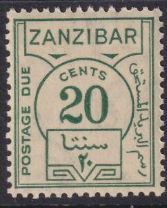 Sc# J20 Zanzibar 1936 postage due 20¢ issue MNH CV $4.00