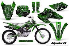 HONDA XR80 XR100 XR 80 100 2001-2003 GRAPHICS KIT CREATORX DECALS SPIDERX GREEN