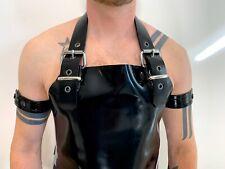 Men's Heavy Black Rubber Latex Apron  .9mm Latex - Gay Interest Fetish Master