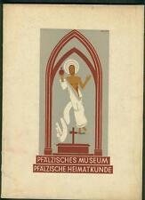 Pfälzisches Museum Heimatkunde 1931 Wandmalerei Kunst Notzeit Raum und Bild Kind