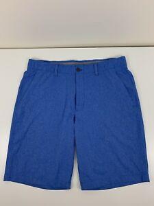 Under Armour Blue Shorts Mens Size 36 Heat Gear Loose Golf Chino Stretch UA EUC