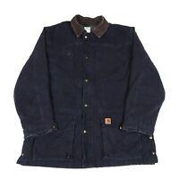 CARHARTT Blanket Lined Chore Jacket   Work Workwear Coat Duck Bomber Vintage
