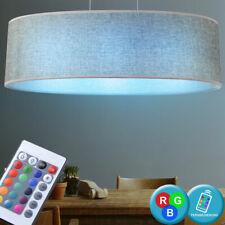 RGB LED 21 Watt Pendel Lampe Dimmer Wohnraum Stoff Decken Strahler Fernbedienung