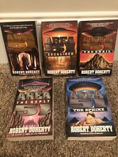 Robert Doherty lot of 5 science fiction paperbacks in the Area 51 series