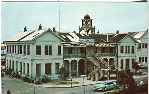 Belize City - Supreme Court old chrome postcard