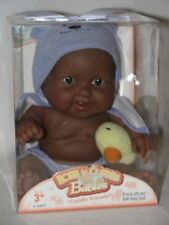 """8"""" Black Chubby Berenguer Baby Doll In Purple With Duck Mint In Box"""