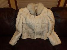 Ladies BLUE FOX BRIGHTHENER Fur Coat Jacket Size M