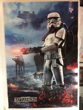 """STAR WARS BATTLEFRONT, DOUBLE SIDED, VIDEO GAME PROMO POSTER, EA GAMES 34""""X23"""""""
