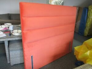Hypnos Josephine EURO SLIM Headboard 150 CM king size 5ft Cayenne Coral RRP £750