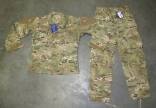 US Military issue Multicam Camo Army Combat Uniform Set Pants & Coat FR Sz Small