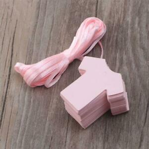 Set of Baby T-Shirt Tags Favour Gender Reveal/Crafts/Props/Gifts Pink/Blue