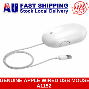 GENUINE APPLE WIRED USB OPTICAL MIGHTY MOUSE A1152 EMC 2058 for IMAC MACBOOK PRO