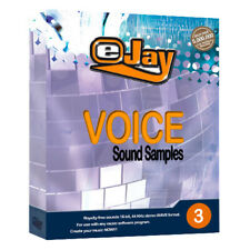 eJay Voice Sound Samples 3. WAV, digital audio,DAW, vocal,create music, library