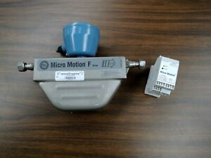 Micro Motion Flow Meter Sensor w/Transmitter F025S319CQBAEZZZZ, 2500D3ABBAEZZZ