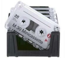 5x WMC Mini Dictée Cassette x 2 15 Min. M30 Cassette pour Dictaphone 24100 NEUF