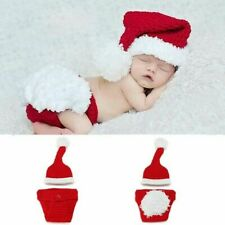Newborn Christmas baby crochet clothing photography props clothes