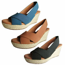 Wedge Ankle Strap Medium (B, M) Synthetic Sandals & Flip Flops for Women