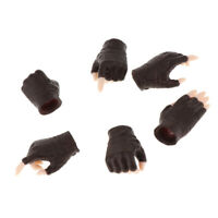 "3 Pair 1/6 Female Hand Models with Gloves for 12"" Phicen Action Figure Toy A"