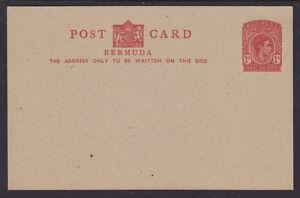 Bermuda H&G 17 mint 1938 1p red KGVI indicium, Postal Card