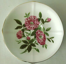 Roslyn Fine Bone China Saucer, Rosa Fiesta 9053 Pattern, England, No Damage