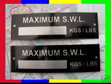A PAIR OF ALUMINIUM SWL HIAB RAMP CRANE WEIGHT PLATES TRAILER PLANT RECOVERY