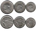 E99 LOTE 3 MONEDAS ESPAÑA 5, 25, 50 PESETAS SERIE BA 1957 MBC