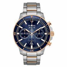 Brand New Bulova Mens Chronograph Stainless Steel Watch 98B301