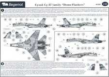 Begemot Decals 1/48 Russian SUKHOI Su-27 FLANKER Family DEMO FLANKERS