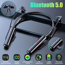 Bluetooth 5.0 Neckband Headset Wireless Earbuds Earphone Mic For iPhone Samsung