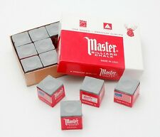 TWEETEN MASTER POOL SNOOKER BILLIARD CUE CHALK GREY 12 PACK PREMIUM QUALITY