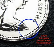 1979 - 50-cents - Coat of Arms - Proof Like - Uncirculated - Pointed Bust Type