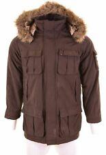 SLAM Mens Windbreaker Jacket Size 36 Small Brown Nylon  IW17