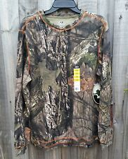 Mossy Oak Camo Thermal Henley Long Sleeve Shirt - Hunting - LARGE